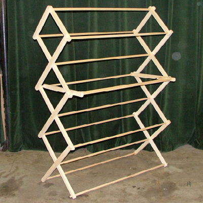 wooden drying rack woodworking plans